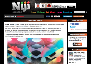Screenshot of Feature in Niji Magazine feature