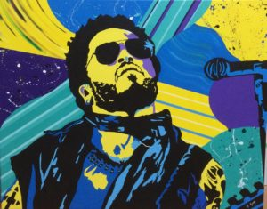 """I am the Chosen I'm the One"" Portrait of Lenny Kravitz 24 x 30"", Acrylic on Canvas."