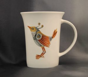 Hand Painted Steampunk Menagerie Mug