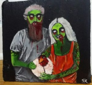 Urban Chicken Farmer Zombie Couple