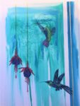 Hummingbirds in Acrylic and Ink